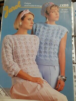 Knitting Patterns - Ladies Pattern - Sleeveless And Short Sleeve Tops In DK  • 1£