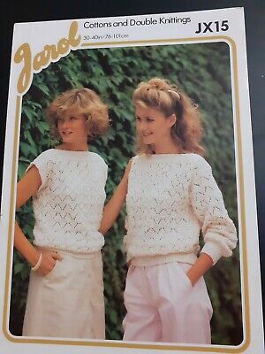 Knitting Patterns - Ladies Pattern - Slash Neck Sweater 2 Versions In DK  • 1£