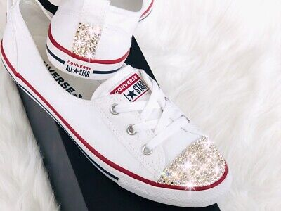 Converse All Star CT Ballet Lace Slip With Swarovski Elements Luxury Shoes White • 109.13£