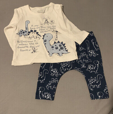 Next Boys Dinosaur Outfit 0-3 Months / Up To 3 Months • 3£