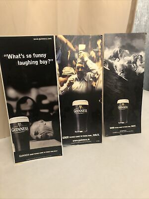 Guinness Bar Top Advertising Cards X 3 • 6£