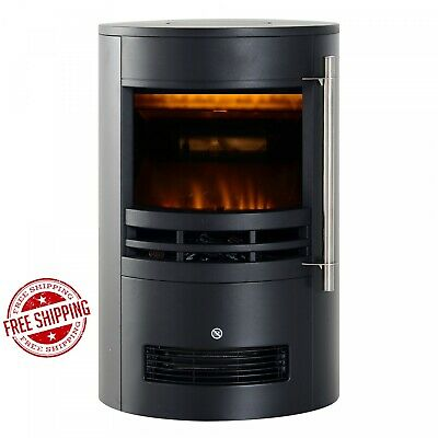Electric Stove Heater Burner Contemporary 1000/2000W LED Log Fire Fireplace NEW • 189.99£