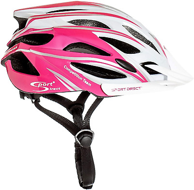 Sport Direct  Team Comp 24 Vent Bicycle Helmet Womens Pink 55-58cm CE A1:2012 • 30.37£