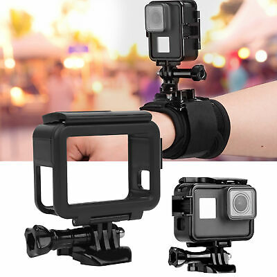 $ CDN14.08 • Buy Camera Frame Case Horizontal Vertical Shooting For Gopro Hero 7 6 5 Camera Black