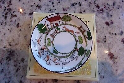 Coalport Fox Hounds Hunting Scene Fine Bone China Coaster Trinket Dish Boxed • 9.99£