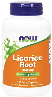 NOW Foods Licorice Root Traditional Herb & Antioxidant | 450mg 100 Veg Capsules • 13.95£
