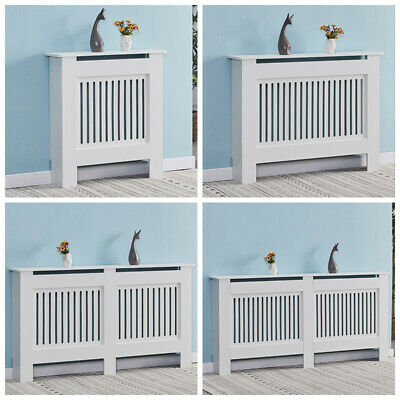 £34.99 • Buy Wood Radiator Cover Grill Shelf Cabinet Modern Traditional Furniture White MDF