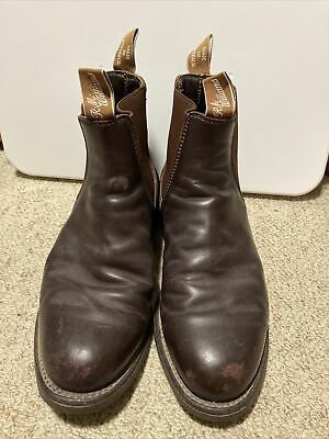 AU80 • Buy Mens Genuine RM Williams Brown Leather Boots Size 7G In Good Used Condition