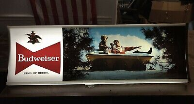 $ CDN447.65 • Buy Budweiser Beer Lighted Sign | Massive 48  X 16  | Vintage | Working + Gorgeous