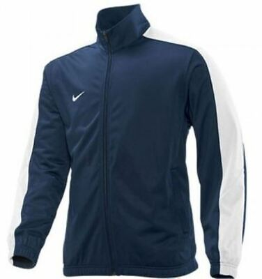 Nike Mens Poly Tracksuit Top Sports Running Gym Track Zip Jacket   Navy • 14.99£