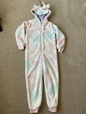 Girls Marks And Spencer Unicorn 1Onsie / All-in-one Pyjamas - Age 7-8 🦄 • 3£