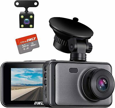 AU38.39 • Buy  Dash Cam Front And Rear Include 32GB SD Card, 1080P Dash Camera For Cars 3 Inch