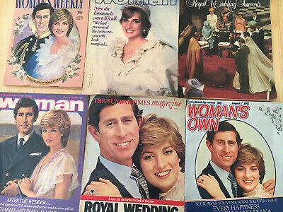 Six Magazines August 1981 Charles And Diana Royal Wedding Conmemoration Editions • 7.99£
