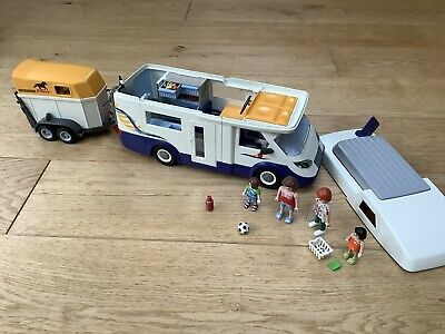 Playmobil  Campervan With Horsebox • 7£