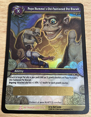 Papa Hummel's Old-Fashioned Pet Biscuit Loot Card World Of Warcraft WoW TCG • 2.99£