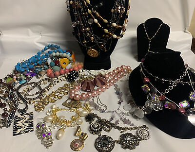 $ CDN45.41 • Buy Vintage-Now Jewelry Lot OVER 1.5 LBS!  Estate Finds Wearable Sellable #611
