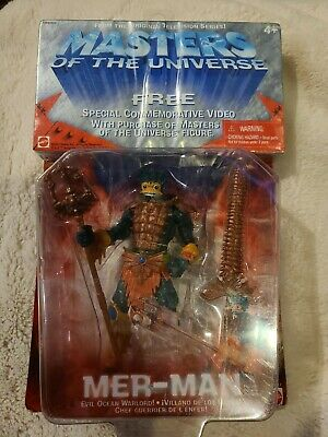$5.99 • Buy He-Man Masters Of The Universe Mer-Man MOTU 2001 Figure 54917 With VHS New
