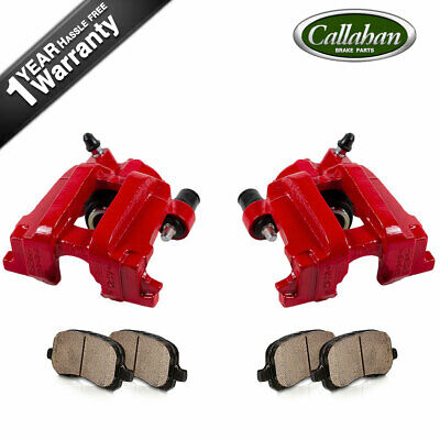 $173.07 • Buy Rear Red Coated Brake Calipers & Pads For FORD ESCAPE MAZDA TRIBUTE MARINER