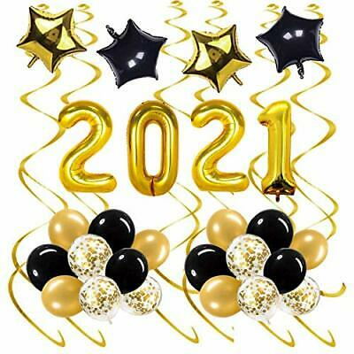 SZHUIHER Gold 2021 New Years Balloons For New Years Eve Decorations Supplies • 17.99£