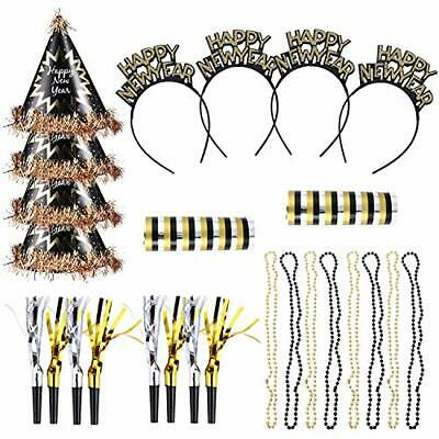 2021 New Year Eve Party Supplies, 26pcs New Year Party Decorations Kit Black • 21.99£