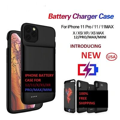AU38.76 • Buy  IPhone 12/Pro Max 11/X/XR/XS Max Battery Charging Case Power Bank Charger Cover