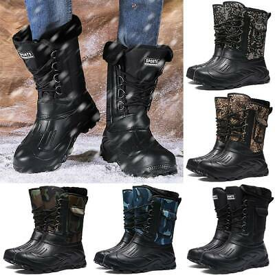 Men's Cargo Combat Snow Winter Warmer Army Military Sports Shoes Size Hot Boots • 22.99£
