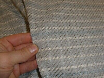 £7.99 • Buy GREY With Blue - Checked Chenille Upholstery Fabric (Caravans & Chairs)