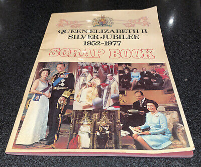 Queen Elizabrth Ii Silver Jubilee Rare Collectable Souvenir Vintage Scrap Book • 15£