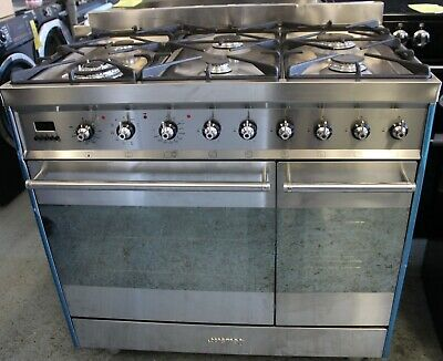 Smeg SY92PX8 Dual Fuel Range Cooker, Gas Hob, Stainless Steel £1,689.00 • 899£