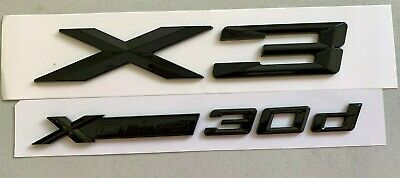 AU59.95 • Buy Gloss Black X3 XDrive 30d Trunk Tailgate Sticker Badge Emblem For BMW X3 G01