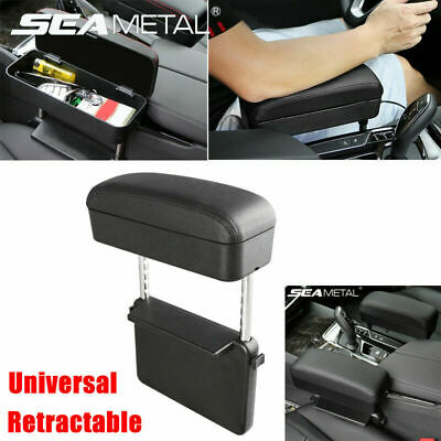 NEW Retractable Car Central Console Armrest Box Storage Case PU Car Accessories • 39.99£