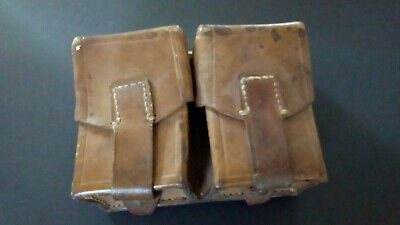 Vintage Military Double Leather Ammo / Utility Pouch From Yugoslavia 1953 • 13£