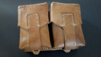 Vintage Military Double Leather Ammo / Utility Pouch From Yugoslavia • 13£