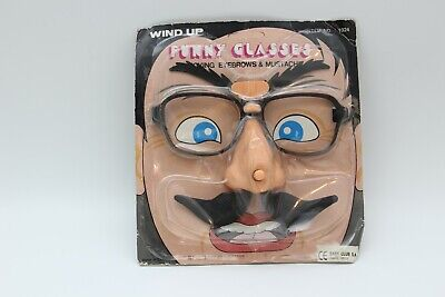 $ CDN37.95 • Buy Vintage Funny Glasses Nose Wind Up Mustache Rare Halloween