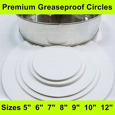 £2.40 • Buy Greaseproof Circles-5 , 6 , 7 , 8 , 9 , 10 , 12 - Round Baking Paper Tin Liners