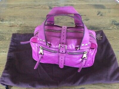 Genuine Mulberry Raspberry Pink Antique Leather Small Mabel Handbag - New/Unused • 129.99£