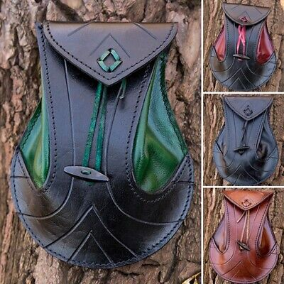 £25.50 • Buy Quality Leather Elven Belt Bag. Perfect For Stage Costume LARP Or Re-enactment