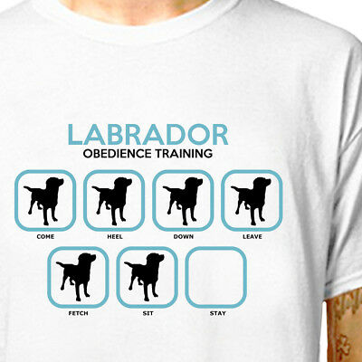 T-SHIRT: LABRADOR (ALL BREEDS AVAILABLE) // Puppy Dog Training Gift  LazyCarrot • 16.95£