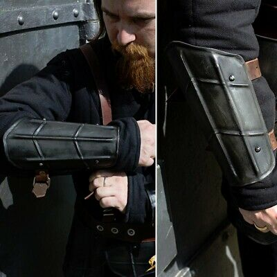 £33 • Buy Dark Drake Steel Vambraces / Arm Armour - Ideal For Costume LARP Or Re-enactment