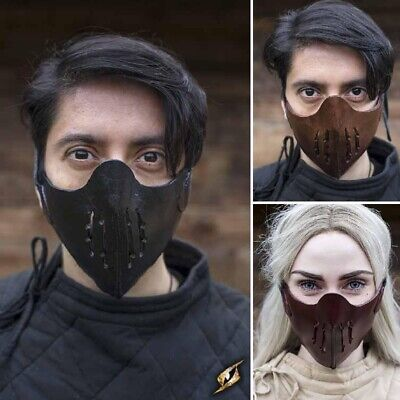 £29 • Buy The Quality Leather Mempo Mask. - Perfect For Stage Costume & LARP. 3 Colours