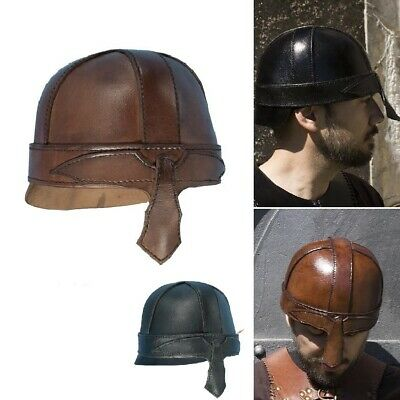 £55 • Buy The Warrior Quality Leather Helmet. Perfect For Stage Costume & LARP. 2 Colours