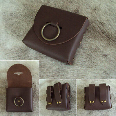 £19.99 • Buy Handmade Heavy Duty Brown Leather Belt Pouch / Bag, Ideal For Costume Or LARP