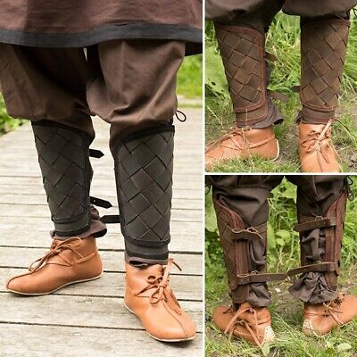 £40 • Buy Leather Viking Greaves - Ideal For LARP / Theatre / Costume Use