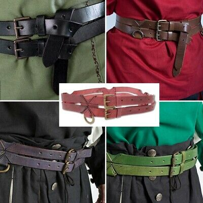 £32 • Buy The Warrior Twin Leather Tunic Belt - Perfect For Stage Costume & LARP 5 Colours