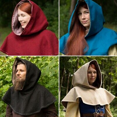 £32 • Buy Medieval Hood Perfect For Stage Costume, Re-enactment And LARP