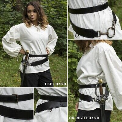 £58 • Buy Leather Double Wrap Weapon Belt. Perfect For Costume Or LARP