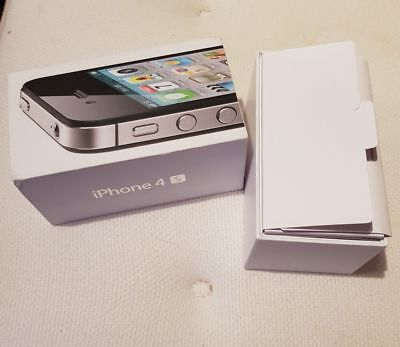 Empty Box Only Retail Packing Packaging No Accessories For Apple Iphone 4s 4 S • 7£