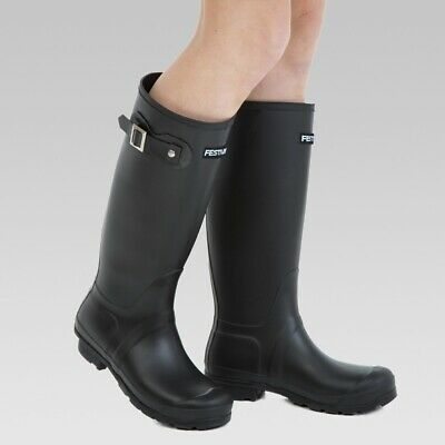 Womens Wellington Boots Tall Festival Rubber Wellington Boots Lined Wellies • 21.99£