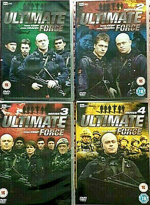 Ultimate Force, Series 1-4 Complete, 8 DVDs, 2002-2005 • 6£