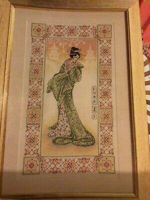 (O) Oriental Geisha Beauty Lady Cross Stitch Chart • 1.99£